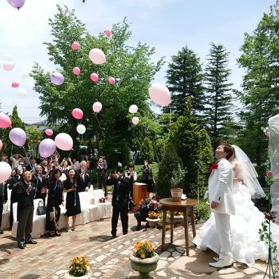 セレビアスカイパレスのガーデン人前結婚式