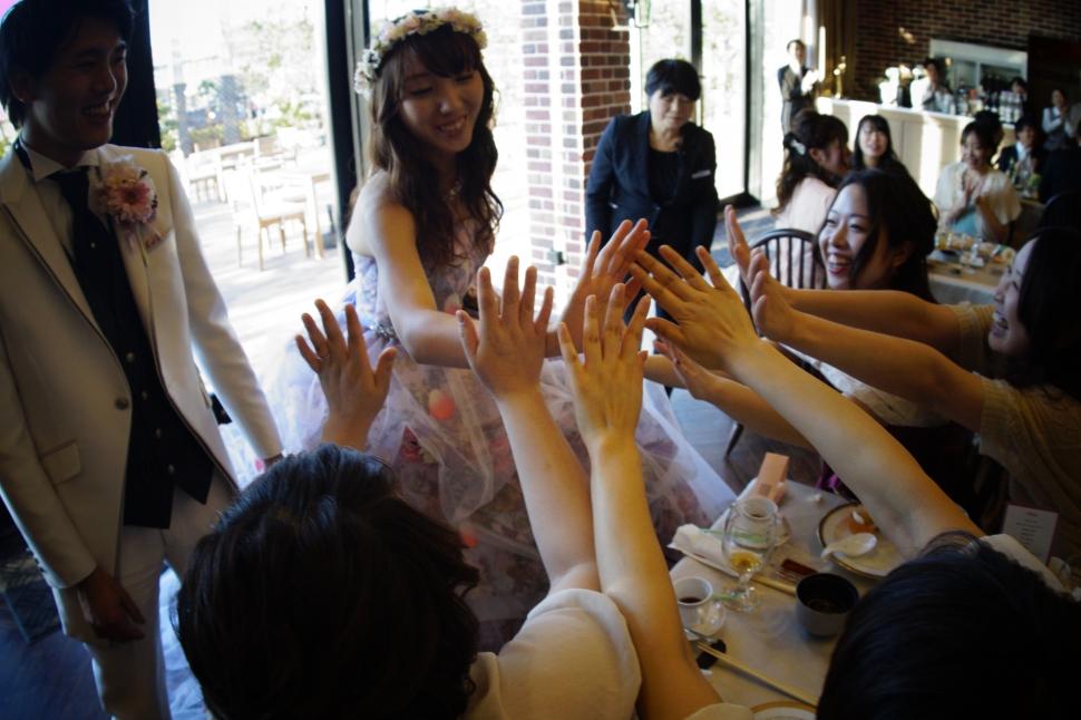 廻郡山で結婚式を挙げた先輩花嫁