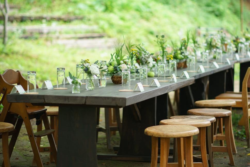 福島市の空カフェで結婚式