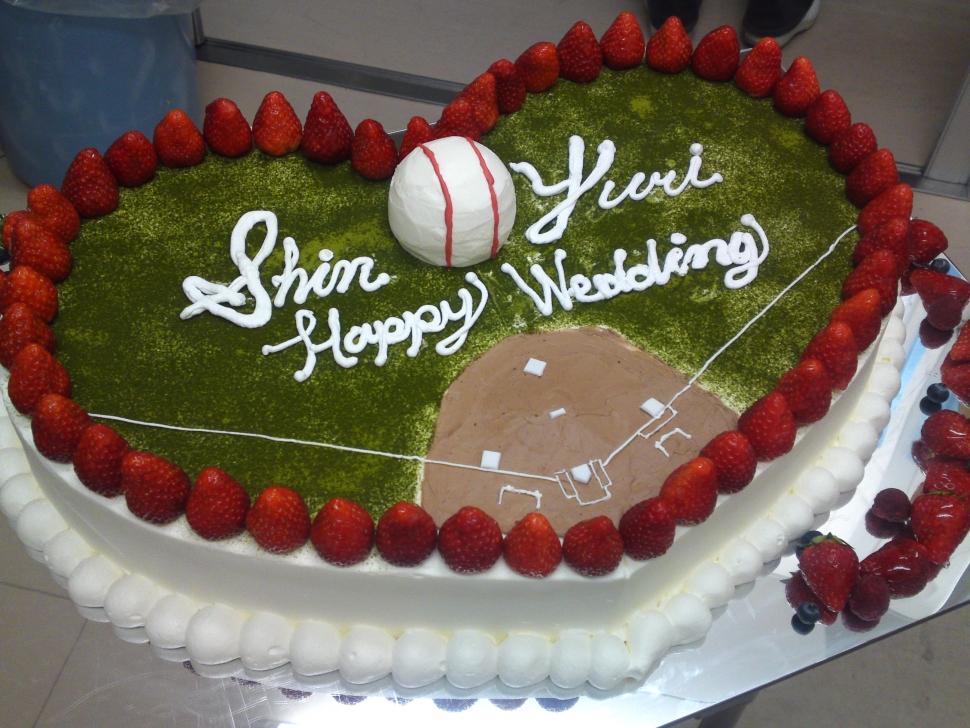 アニエス郡山のオリジナルウェディングケーキ