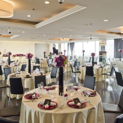 郡山ビューホテルの最上階にある披露宴会場「ステラート」
