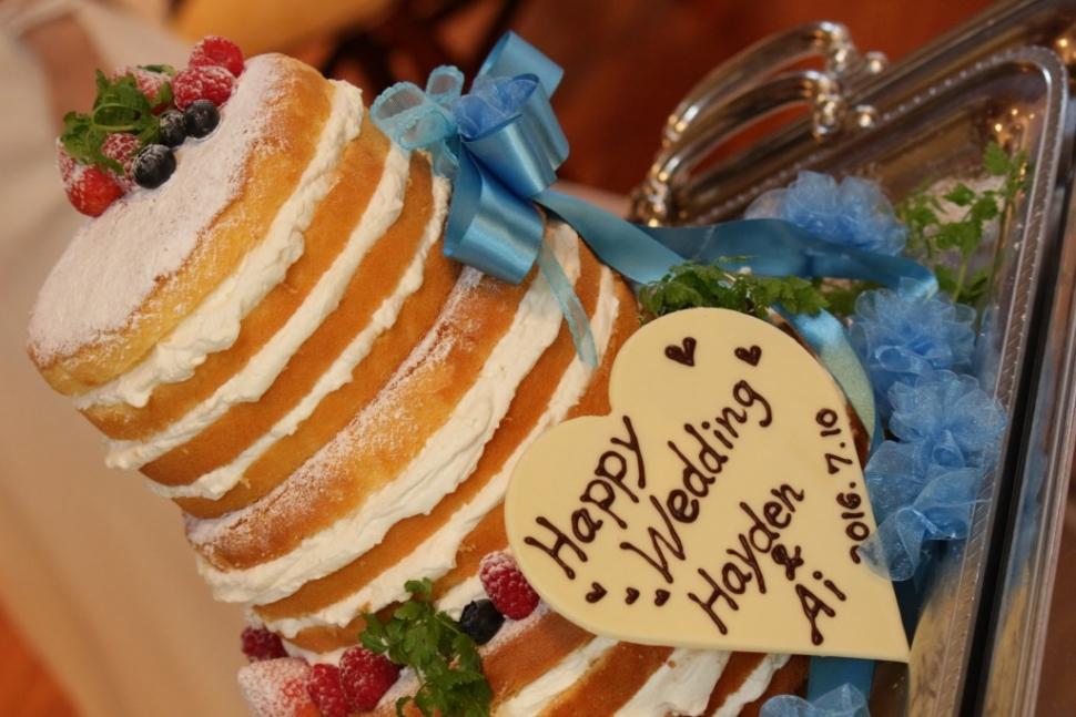 ブリティッシュヒルズのオリジナルウェディングケーキ
