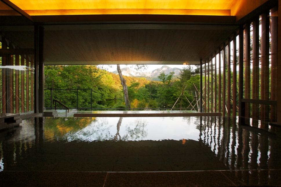 裏磐梯高原ホテルの展望露天風呂