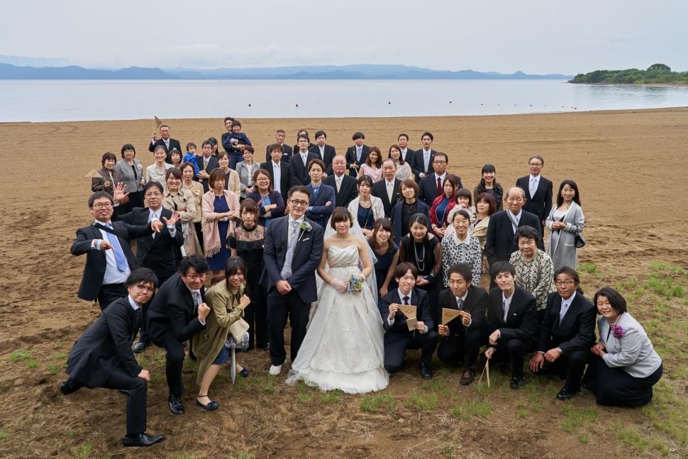 結婚式の全員写真