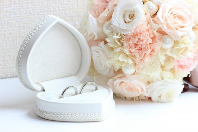 ケースに入った結婚指輪
